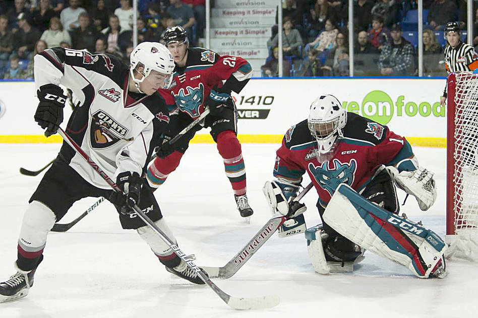 Vancouver Giants photo                                 Davis Koch was named the WHL's player of the month for March.