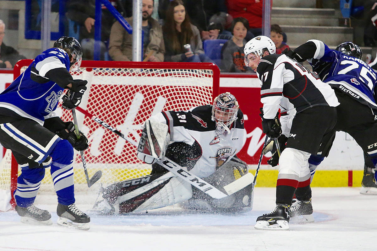Vancouver Giants won the first game in Round 2 of the Western Hockey League's semi-finals. Game one Friday, and Game 2 coming Saturday, are both held at the Langley Events Centre. (Rik Fedyck/Vancouver Giants)