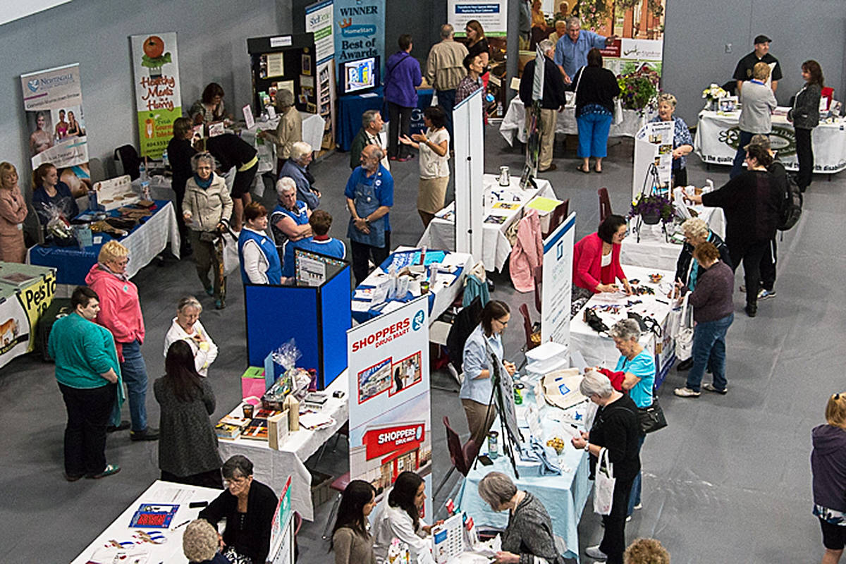 There's many different points of interest at the 60-plus Lifestyle Expo, coming up Friday, May 10 at the Cascades Casino and Convention Centre ballroom in Langley. Photo by Karen Reynolds