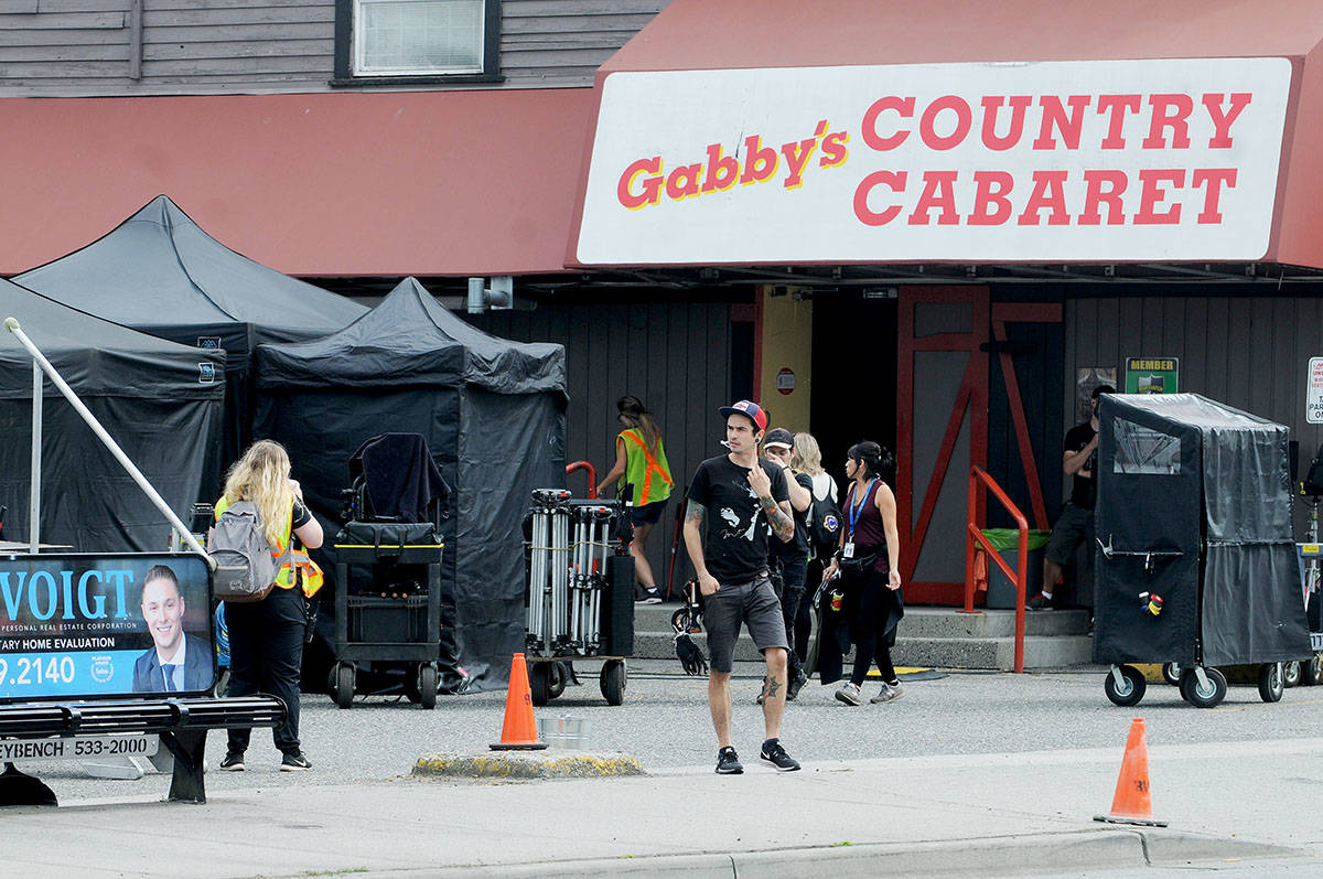 "A film crew took over the parking lot of Gabby's Country Cabaret on Fraser Highway in 2017, to shoot ""Riverdale."" Langley Advance Times film photo Troy Landreville Langley Times"