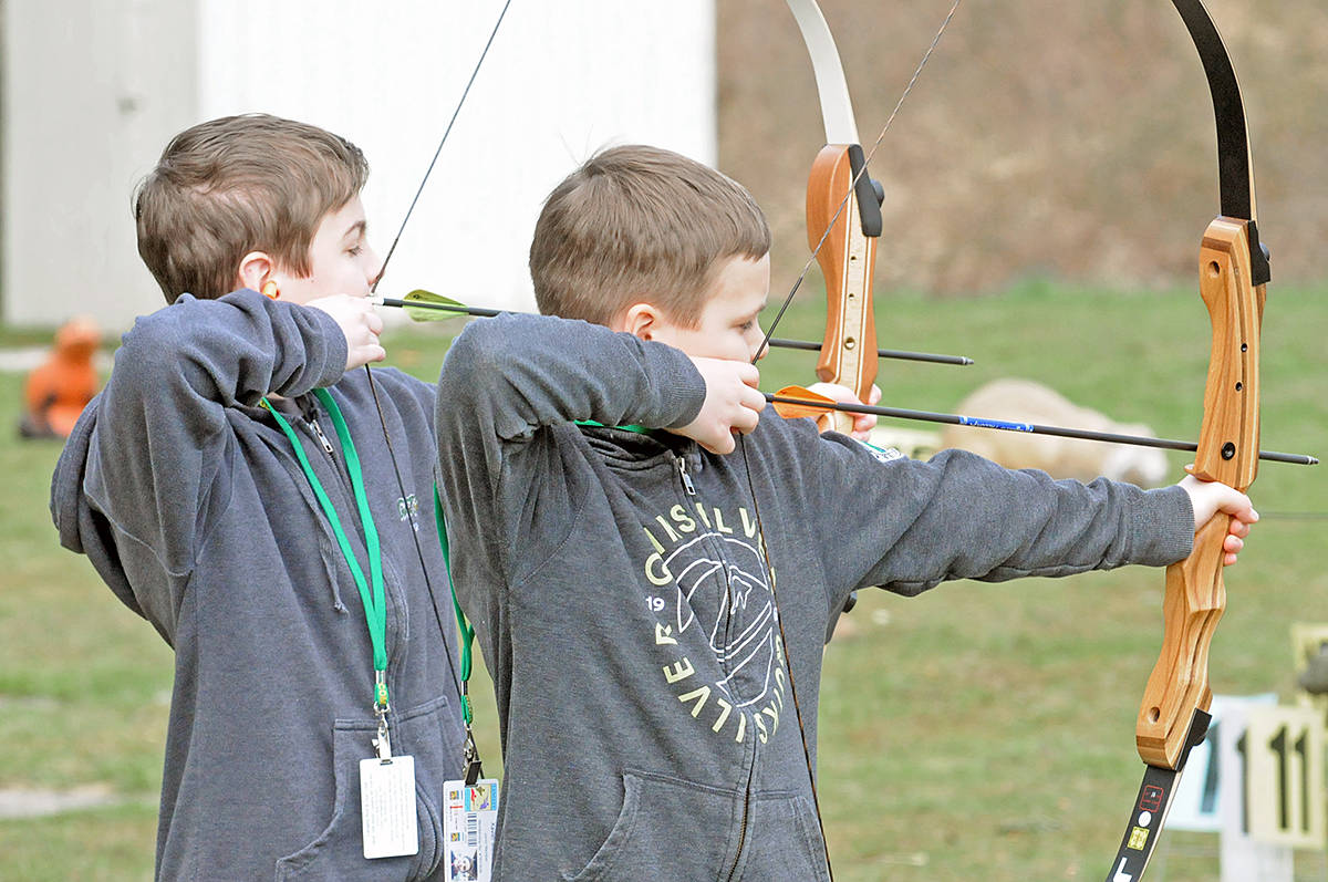 Archers of all ages took part. Dan Ferguson Langley Advance Times