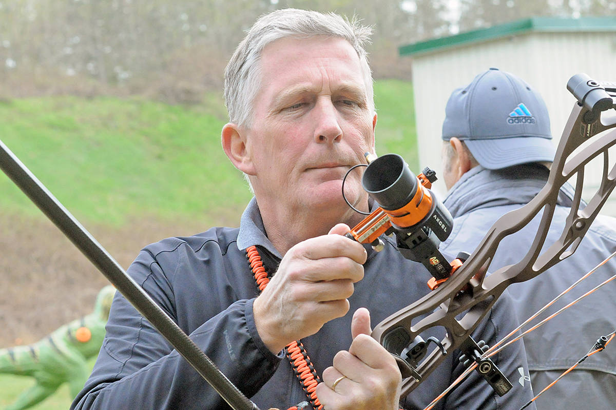 Compound bows were the most powerful on the field, with some requiring as much as 60 pounds of effort to pull. Dan Ferguson Langley Advance Times