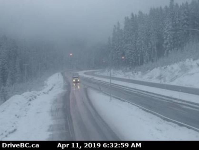 'Heavy snow' leads to delays on Coquihalla, Okanagan highways