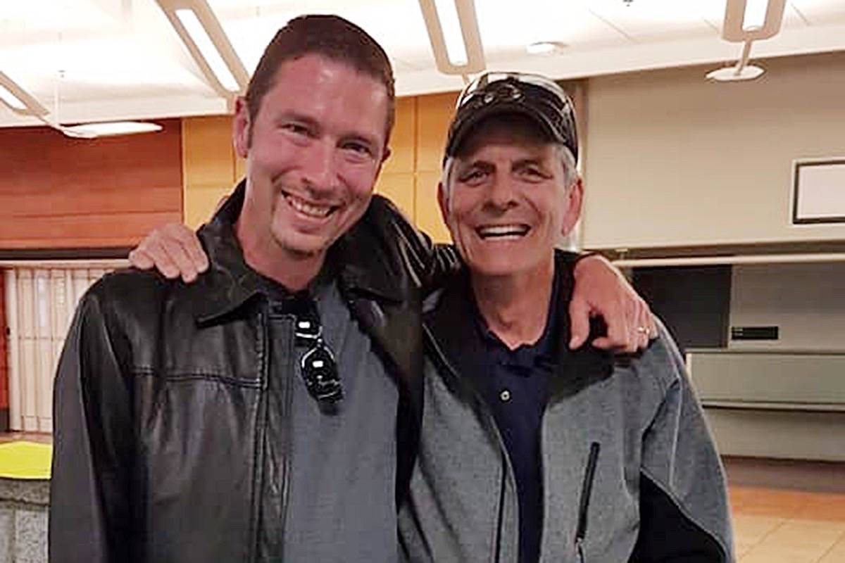 Darrell Sinclair and his father Doug Sherk. (Contributed)
