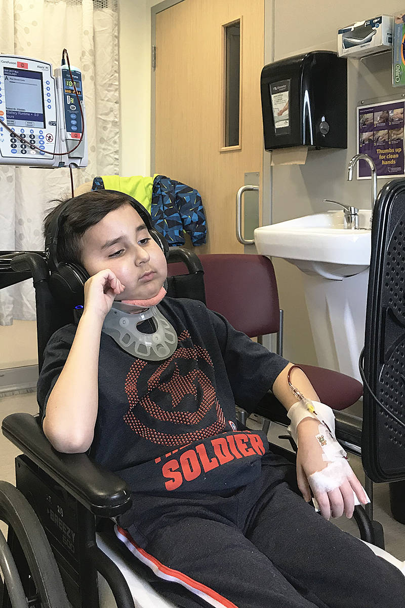 Two years after he underwent surgery, eight-year Caleb McLean's cancer has returned, and the his family is trying to raise funds for the vacation cruise he asked for. Supplied