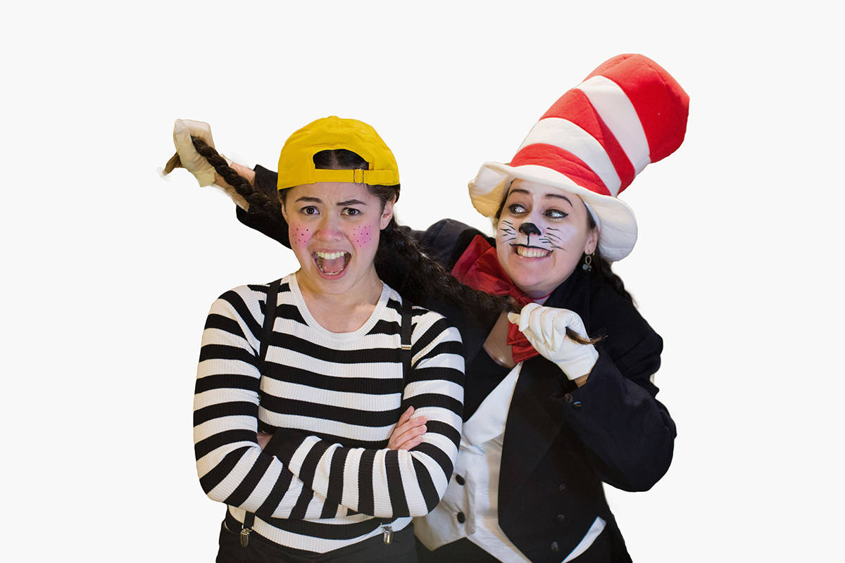 """Jessie Chan (left) and Lauren Trotzuk star in """"Seussical: The Musical."""" Courtesy FVGSS"""
