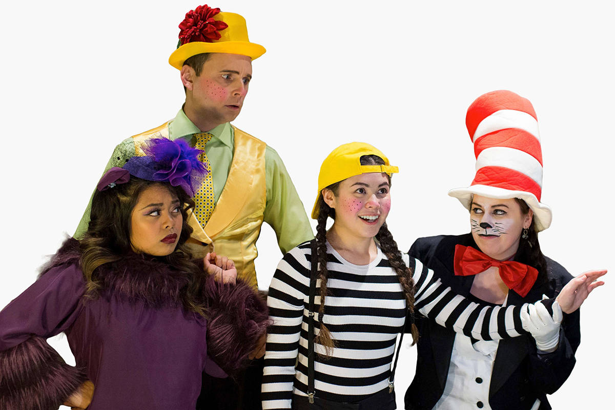 "Jennifer Rose Garcia (left), Christopher Hall, Jessie Chan, and Lauren Trotzuk star in ""Seussical: The Musical."" Courtesy FVGSS"