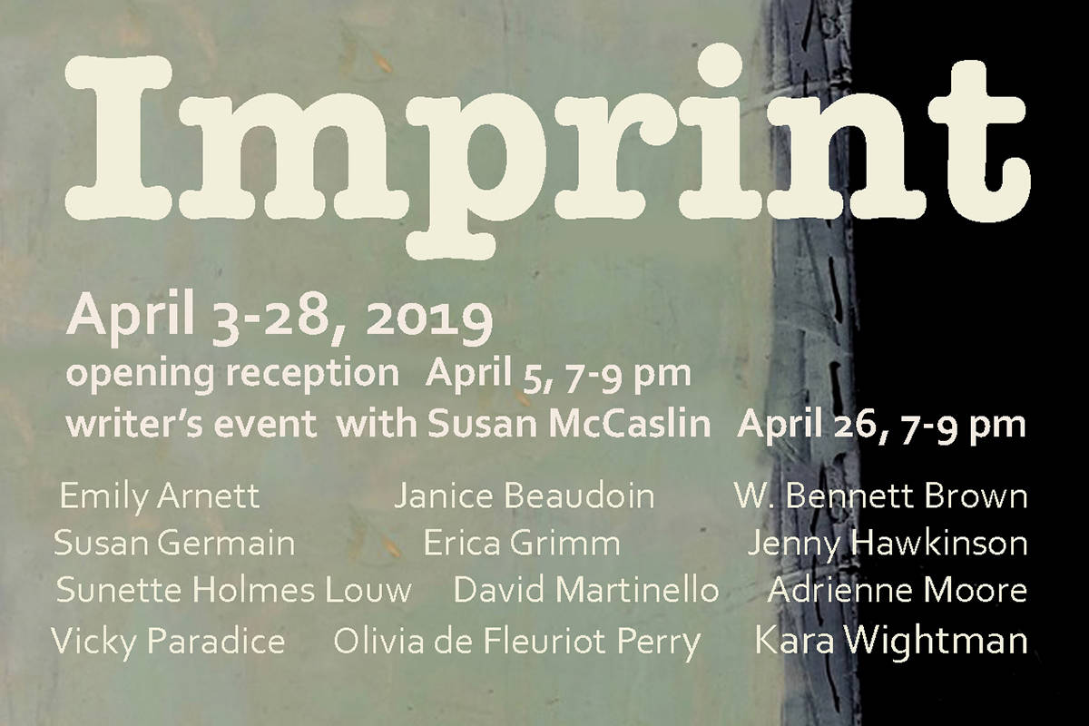 """Imprint"" runs until April 28. Submitted photo"