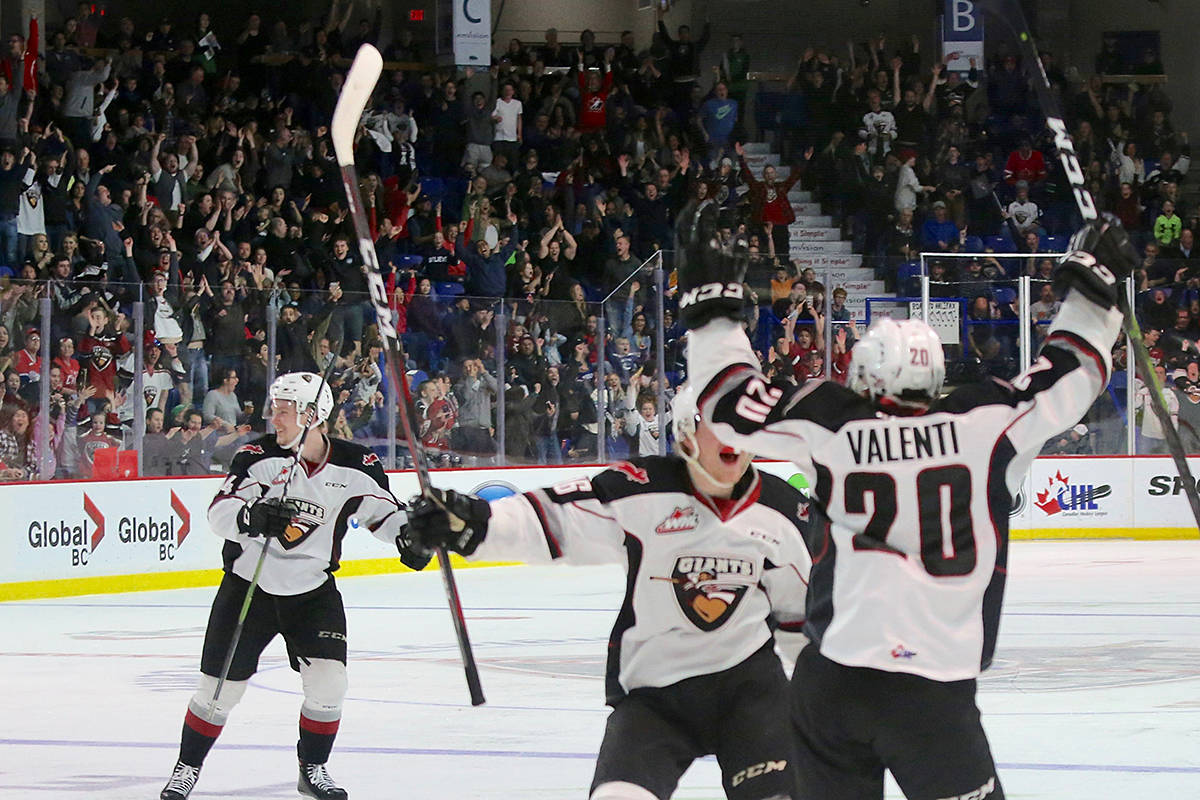 Vancouver Giants defeat the Spokane Chiefs 4-2 Saturday night at LEC, leading the Western Conference championship series 2-0. Next game in State-side on Tuesday. (Rik Fedyck/Vancouver Giants)