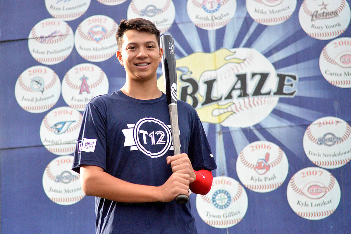 Justin Thorsteinson is one of three Langley Blaze players currently making the rounds of major league clubs as part of the Canadian Junior National Team. File photo