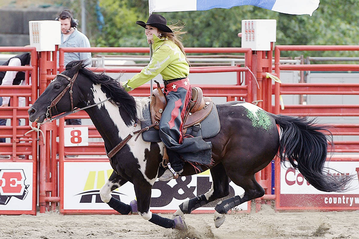 Langley Equestrian Academy student Lexi Langset is a competitive rodeo rider. Contributed photo