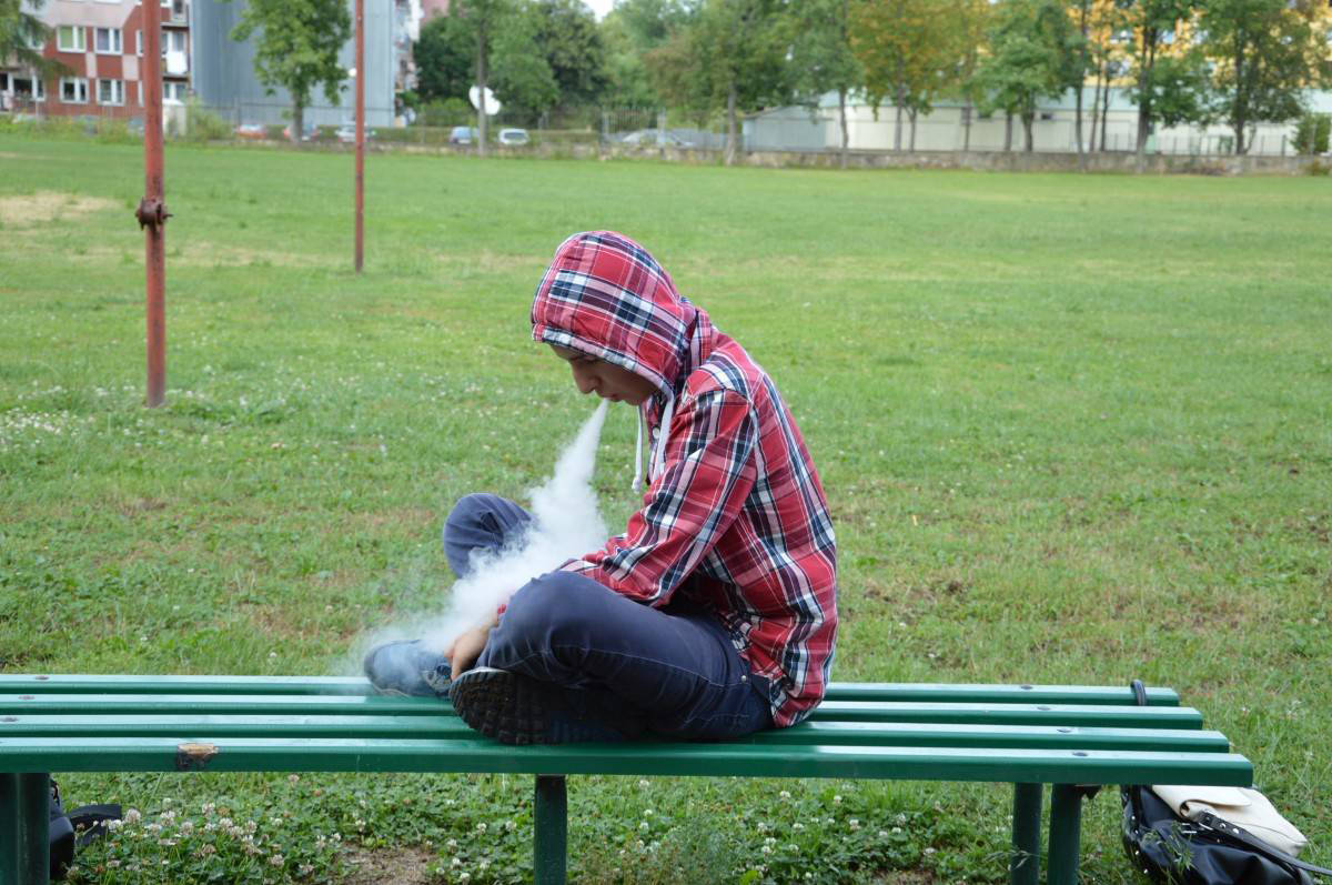 Many teens don't know that they're inhaling nicotine while vaping. (File photo)