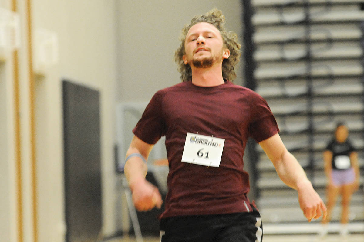 Carson Setter finished a sprint at the RBC Training Ground event at the Langley Events Centre on Sunday. Dan Ferguson Langley Advance Times