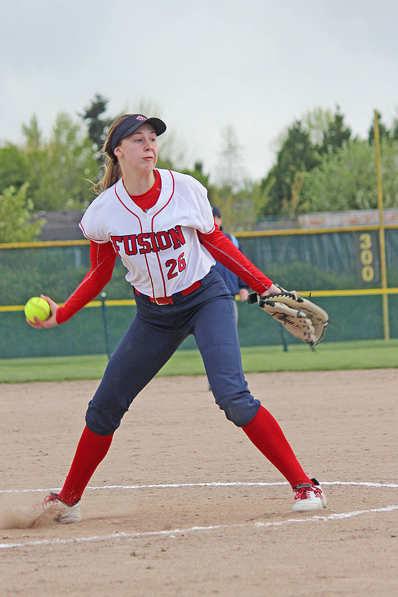 Fusion pitcher Shaneika Hollingworth pitched three consecutive games on Sunday. Tracie Lawrence photo