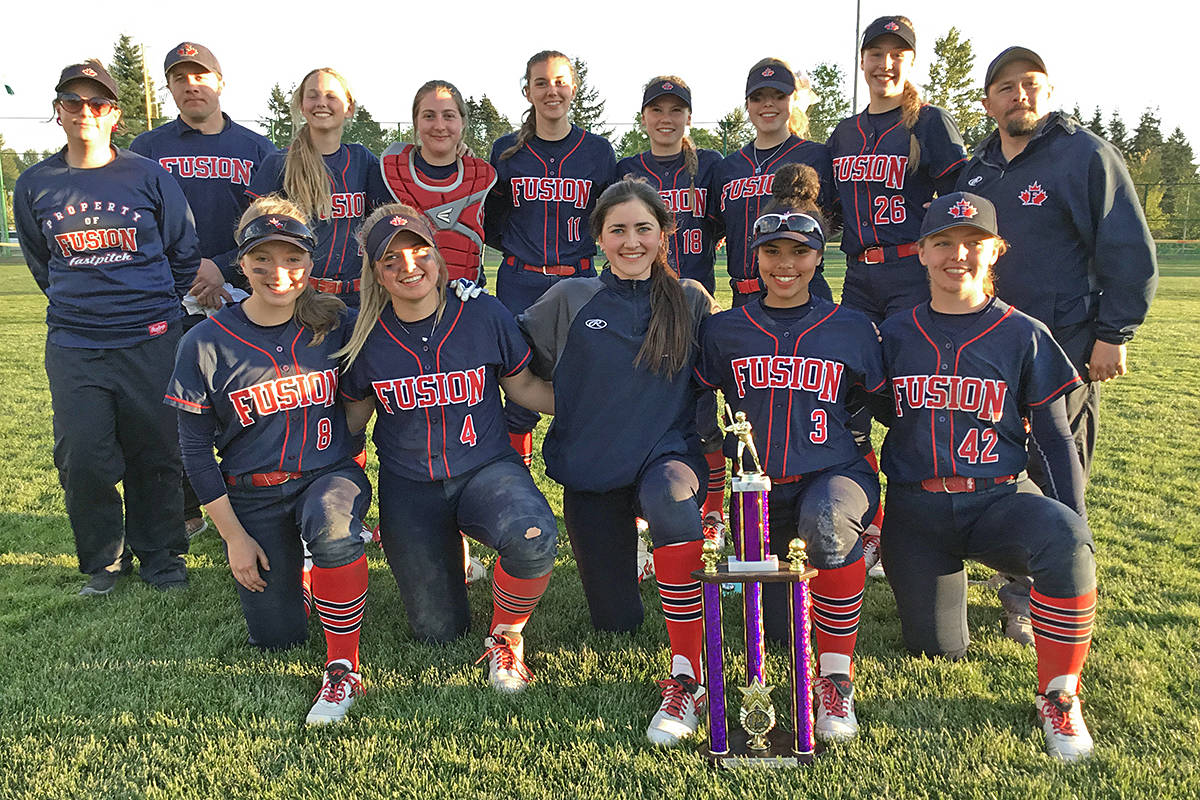 VIDEO: Langley-based Fraser Valley Fusion softball team takes gold in Seattle