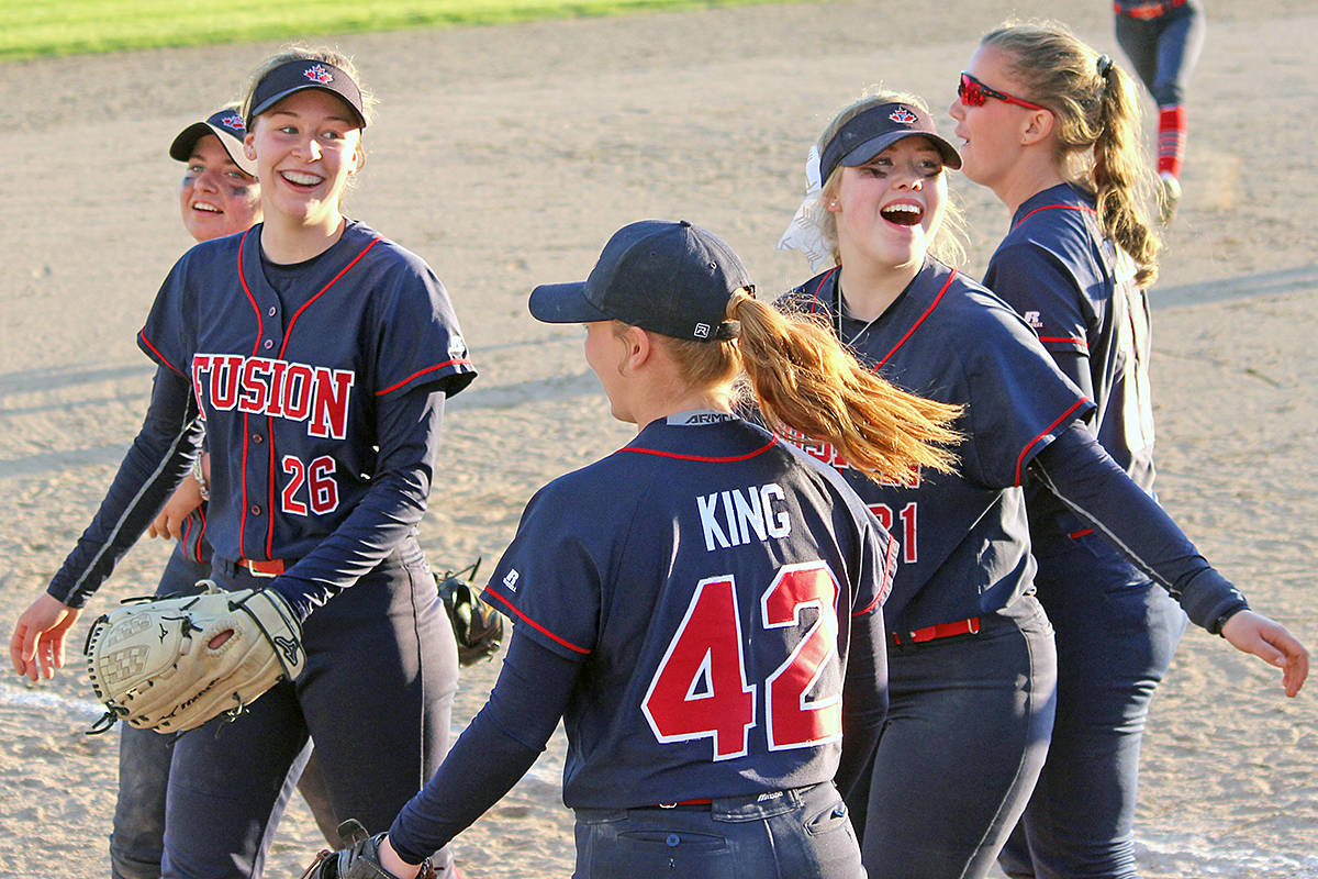 Langley-based Fraser Valley Fusion won 23 games in a row leading up to their victory at the USA Softball of Seattle Sidewinders Tournament on the April 28 weekend. Tracie Lawrence photo