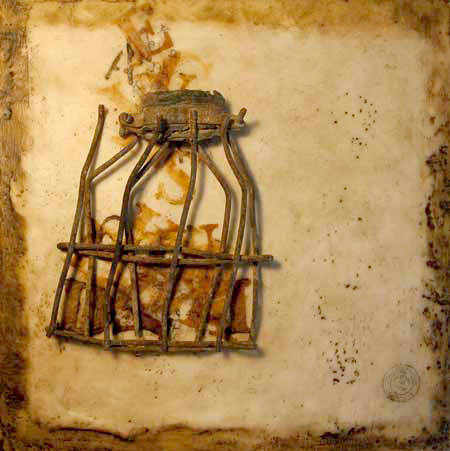 Sales of Nancy Crawford's encaustic art will help build a memorial scholarship in her name, for exceptional graduates of Langley Fine Arts School.