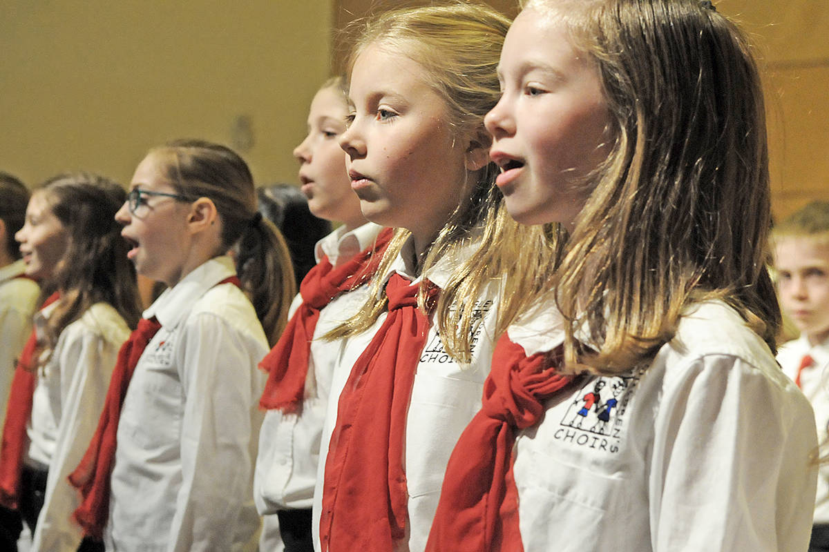 Members of the Langley Children's Choir. Dan Ferguson Langley Advance Times