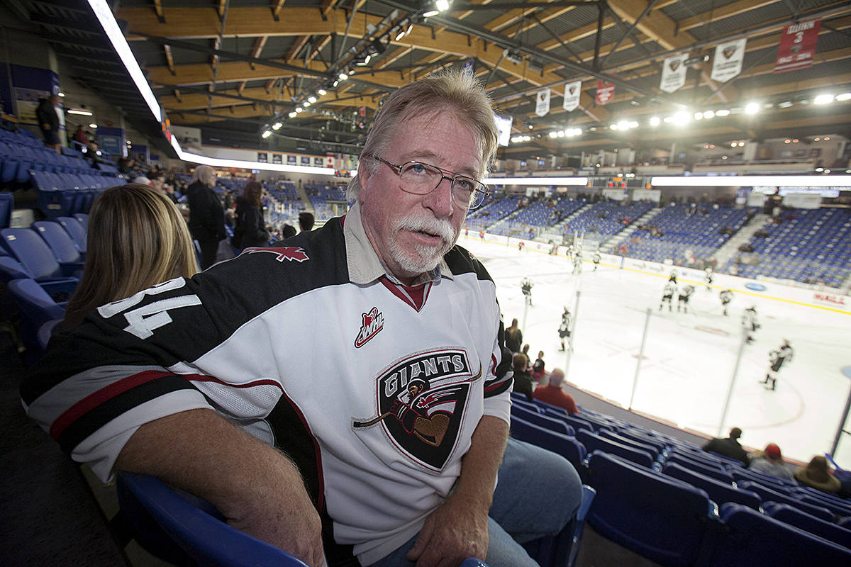 California's Ed Watts will be in the seats cheering on his grandson at the upcoming playoff games for the Vancouver Giants. The first two games are in Saskatchewan, starting Friday night. (Chris Relke/Vancouver Giants)