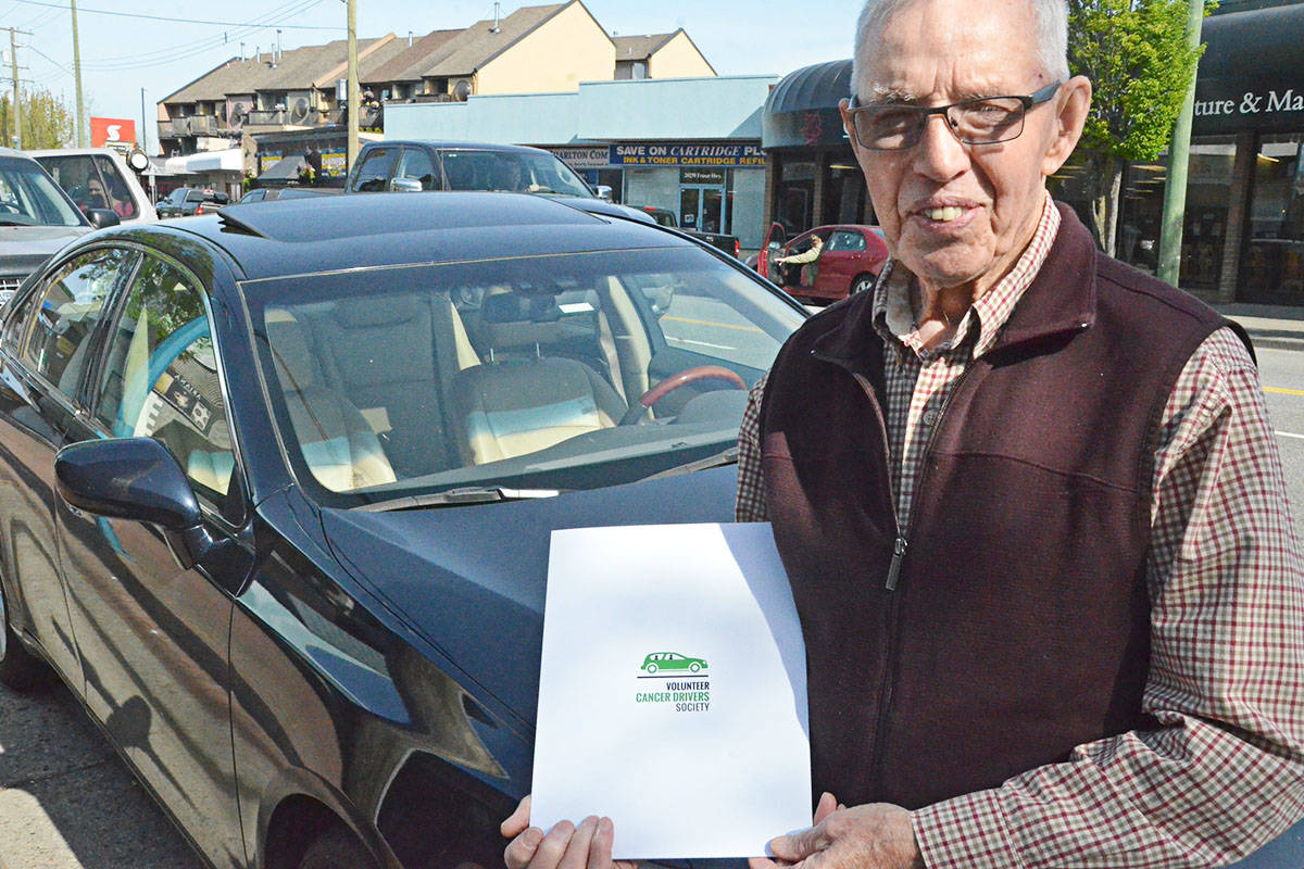 More funding will help the Volunteer Cancer Drivers keep up their service, as their biggest expense, the cost of gas, climbs. (Matthew Claxton/Langley Advance)