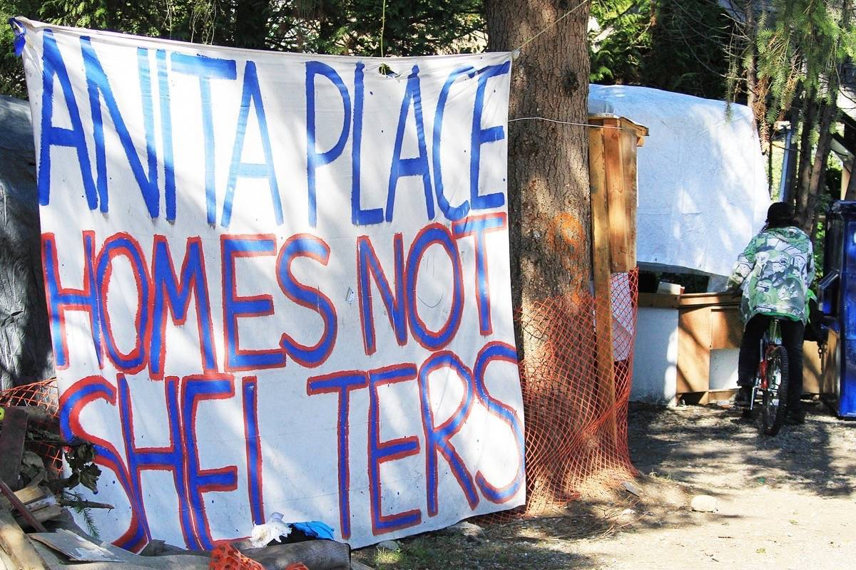 A dog bit a city bylaw officer at Anita Place Tent City on Friday. (THE NEWS/files)