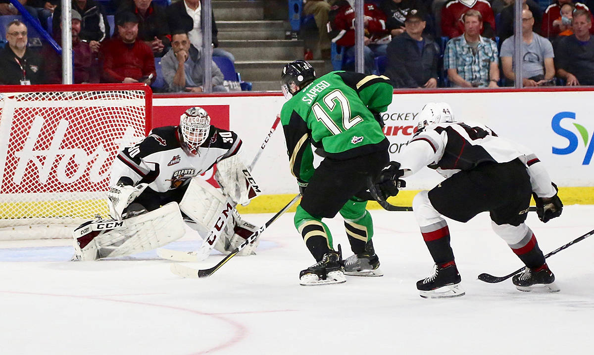 Vancouver Giants dropped a hard-fought 1-0 decision to the Prince Albert Raiders in Game 4 of the 2019 Rogers WHL Championship series Wednesday night on home ice at the Langley Events Centre. (Rik Fedyck/Vancouver Giants)