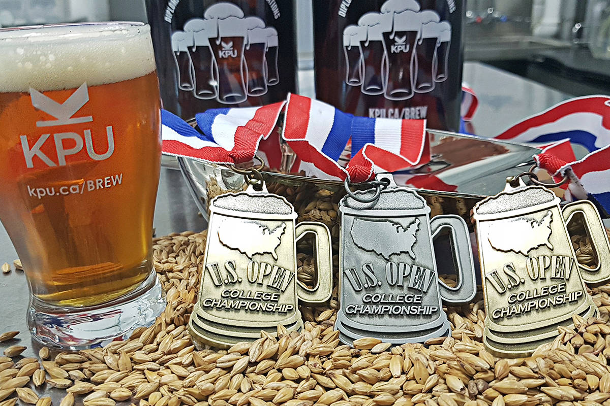 Kwantlen students walked away with three medals and the title of best school at a recent college brewing championships. (KPU)
