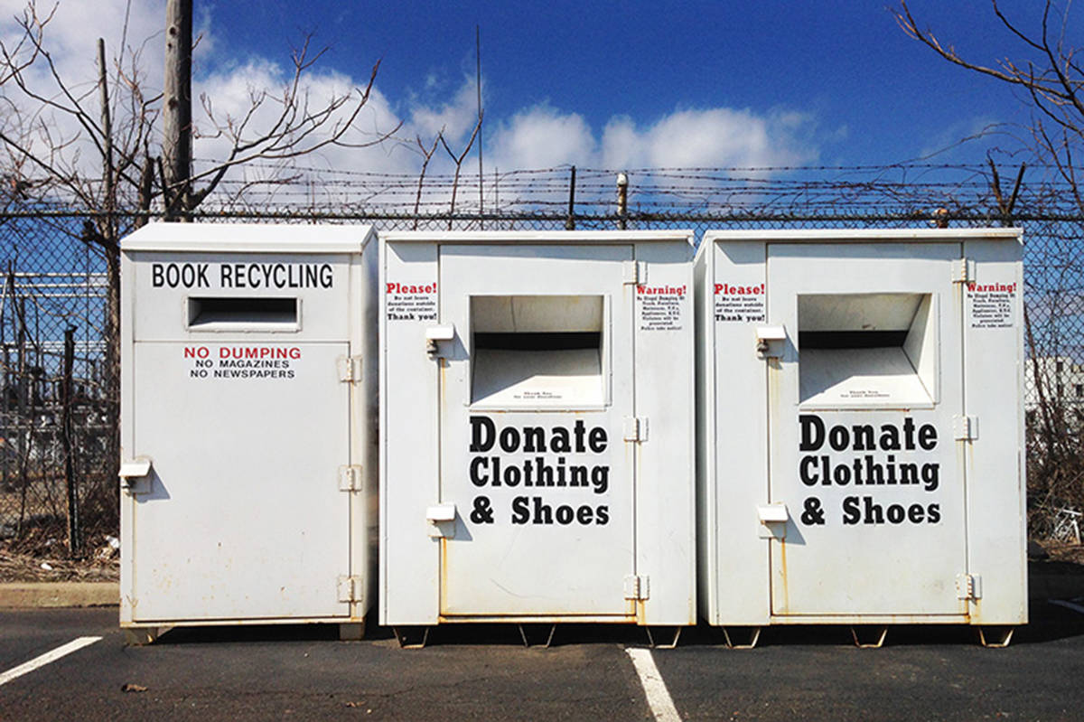 Clothing donation bin retrofits are in the works at UBC Okanagan. (Contributed)