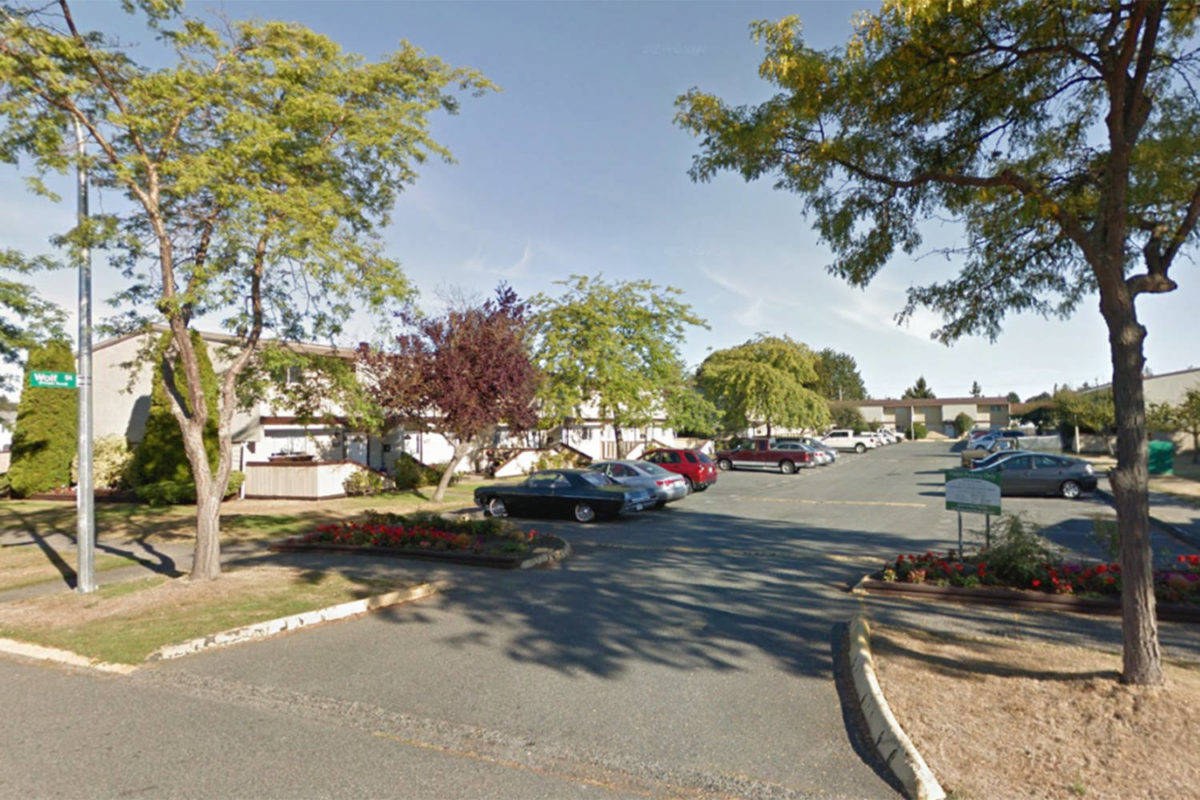 Saanich Police arrested the man charged in connection with a sexual assault in the 3900 block of Wolf Street on March 17, 2019 on Tuesday. The 23-year-old Saanich man faces charges of sexual assault with a weapon, break and enter, and forcible confinement when he appears in court later today. (Google).