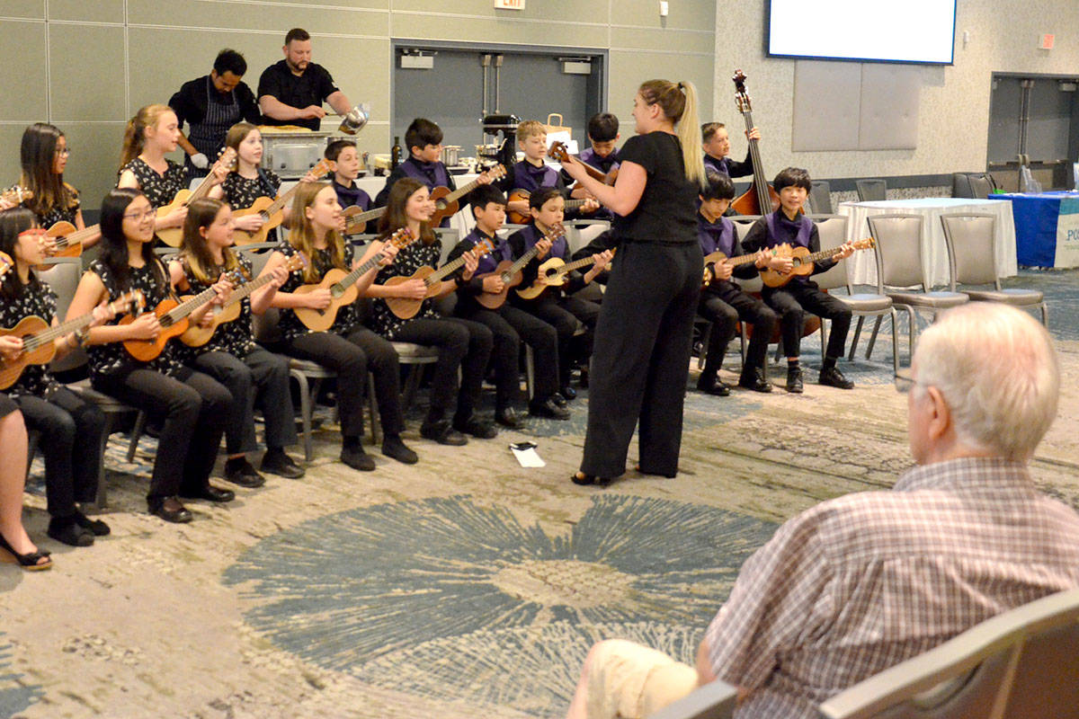 The 60+ Lifestyle Expo featured entertainment by the Langley Ukulele Ensemble. (Heather Colpitts/Langley Advance Times)
