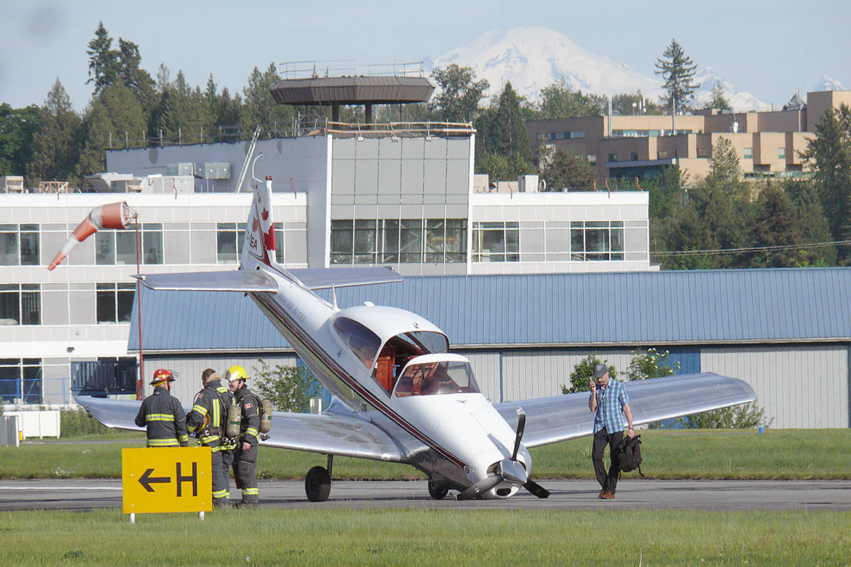 No serious injuries were reported after a small plane crashed on landing at the Langley airport Saturday afternoon. Dan Ferguson Langley Advance Times