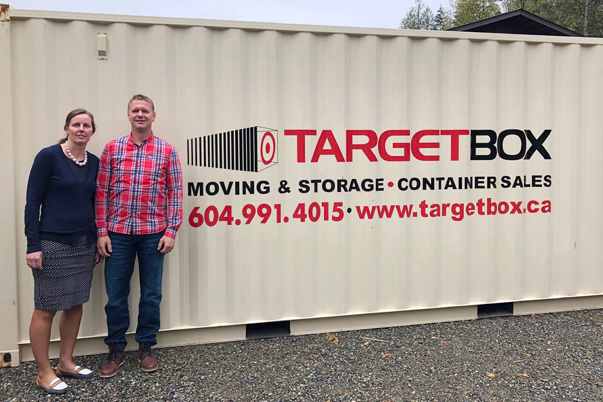 Coreen and Ron Neels are bringing Target Box to Fraser Valley, offering new self-storage containers for your home or job-site.