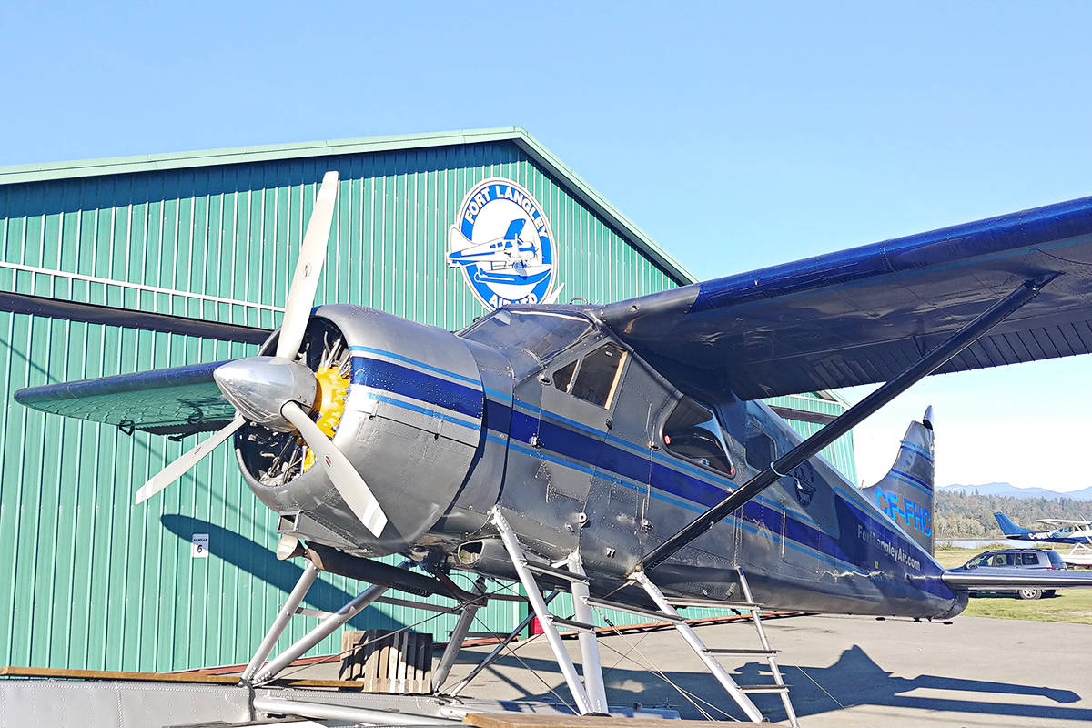 A DHC-3 Beaver, a classic bush plane, among the fleet of Fort Langley Air.