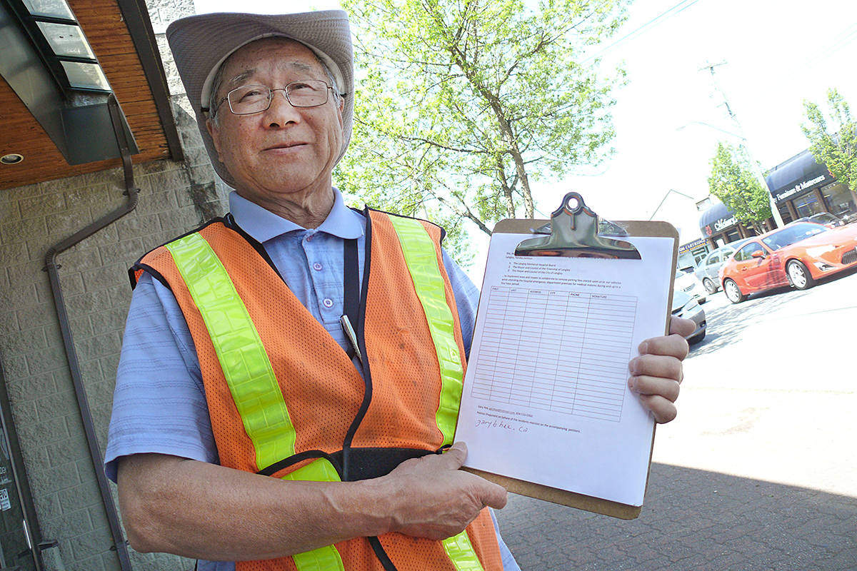 Gary Hee said his petition against hospital parking fees will likely be his last. Dan Ferguson Langley Advance Times