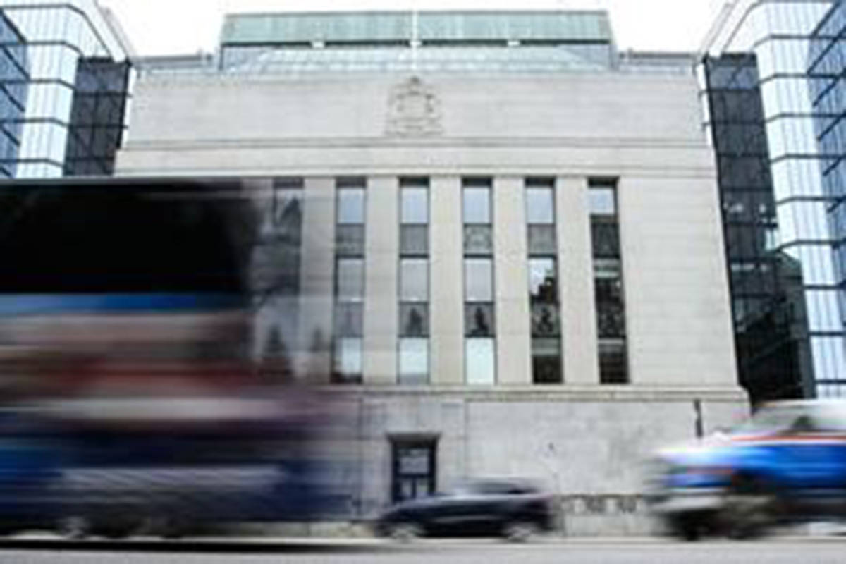 The Bank of Canada in Ottawa is seen on Thursday, May 16, 2019. THE CANADIAN PRESS/Sean Kilpatrick