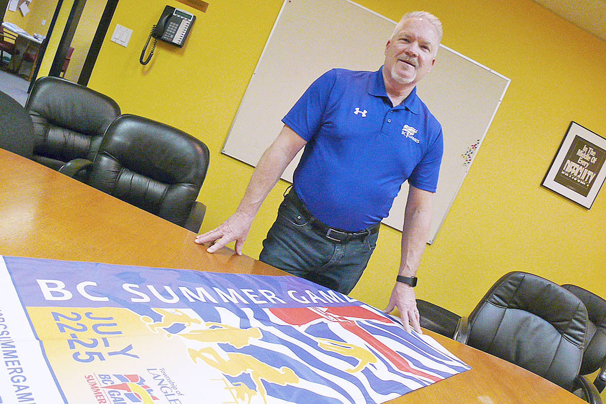 Jamey Paterson has taken over the helm of the BC Games board of directors and will be chairing the 2020 Summer and Winter Games. (Dan Ferguson/Langley Advance Times)