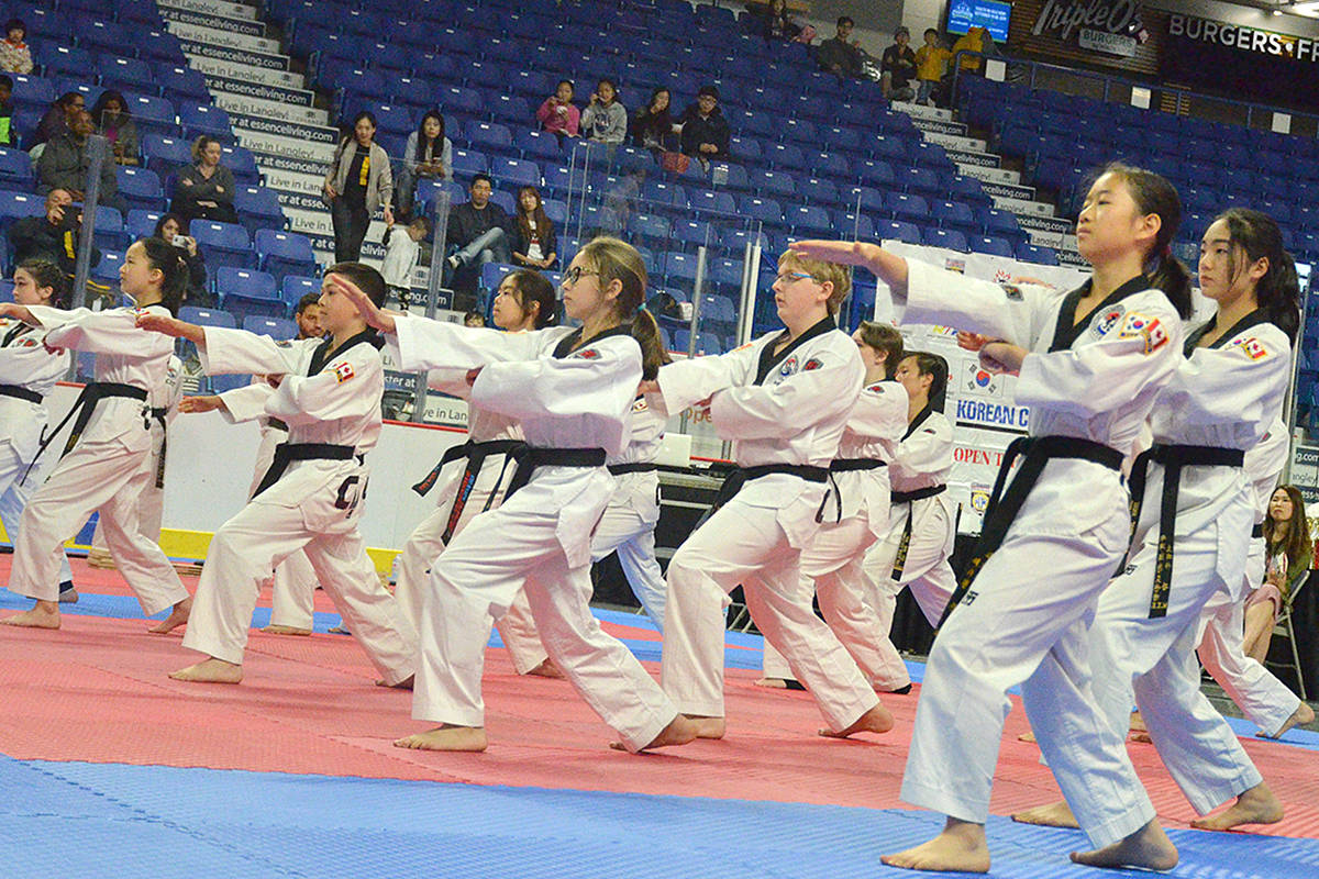 Close to 400 athletes took part in the third annual BC Korean Consul General Cup Tournament and Taekwondo Festival at the Langley events Centre on Saturday. Photo by Gary Ahuja/Langley Events Centre