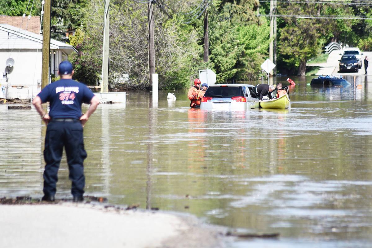 Flooding, May 10-12, 2018. (Kathleen Saylors/Grand Forks Gazette)                                Flooding in Grand Forks, B.C. on May 12, 2018. (Kathleen Saylors/Grand Forks Gazette)