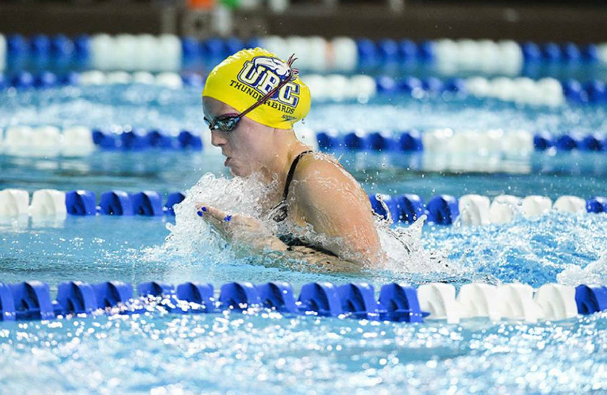 Langley Team Canada swimmer Hillary Metcalfe heads to Naples in July. (Langley Advance Times files)