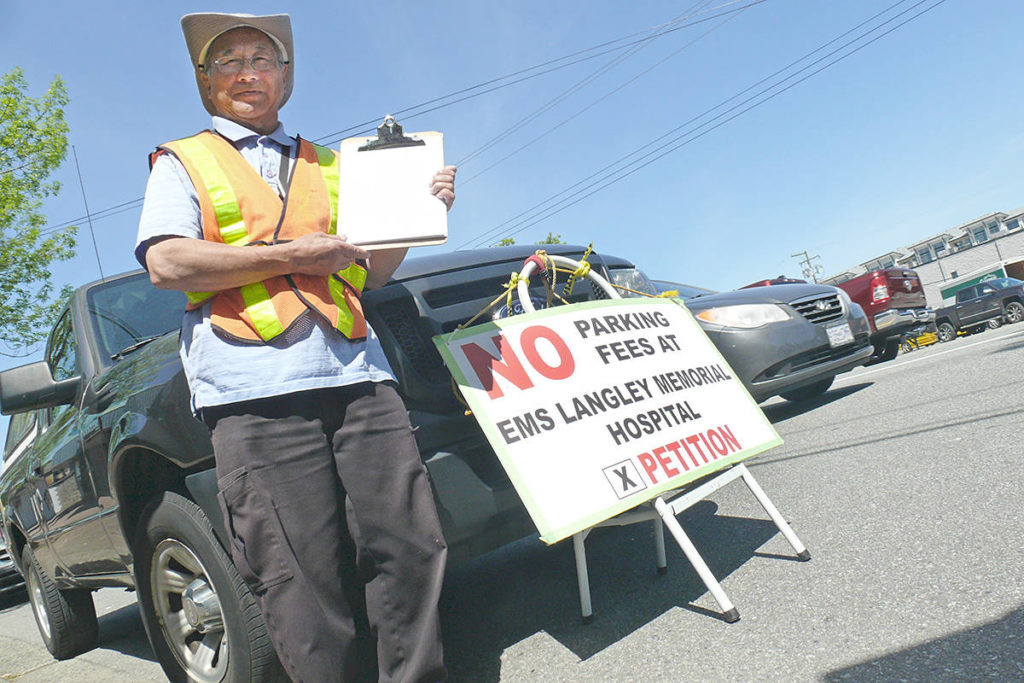 Gary Hee has reached his goal of 2.500 signatures on a petition against hospital parking fees in Langley. Dan Ferguson Langley Advance Times
