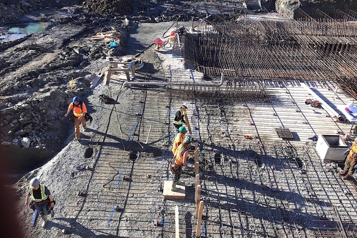 B.C.'s construction industry is now overwhelmingly non-union and open-shop. (Tom Fletcher/Black Press)