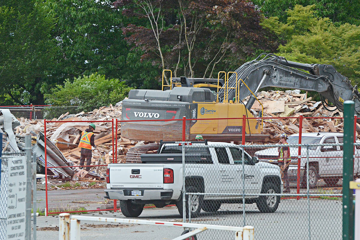 Demolition and reconstruction work is underway at the former Murrayville Elementary, where the heritage school will be transformed into condos and townhomes built on the remainder of the site. (Matthew Claxton/Langley Advance Times)