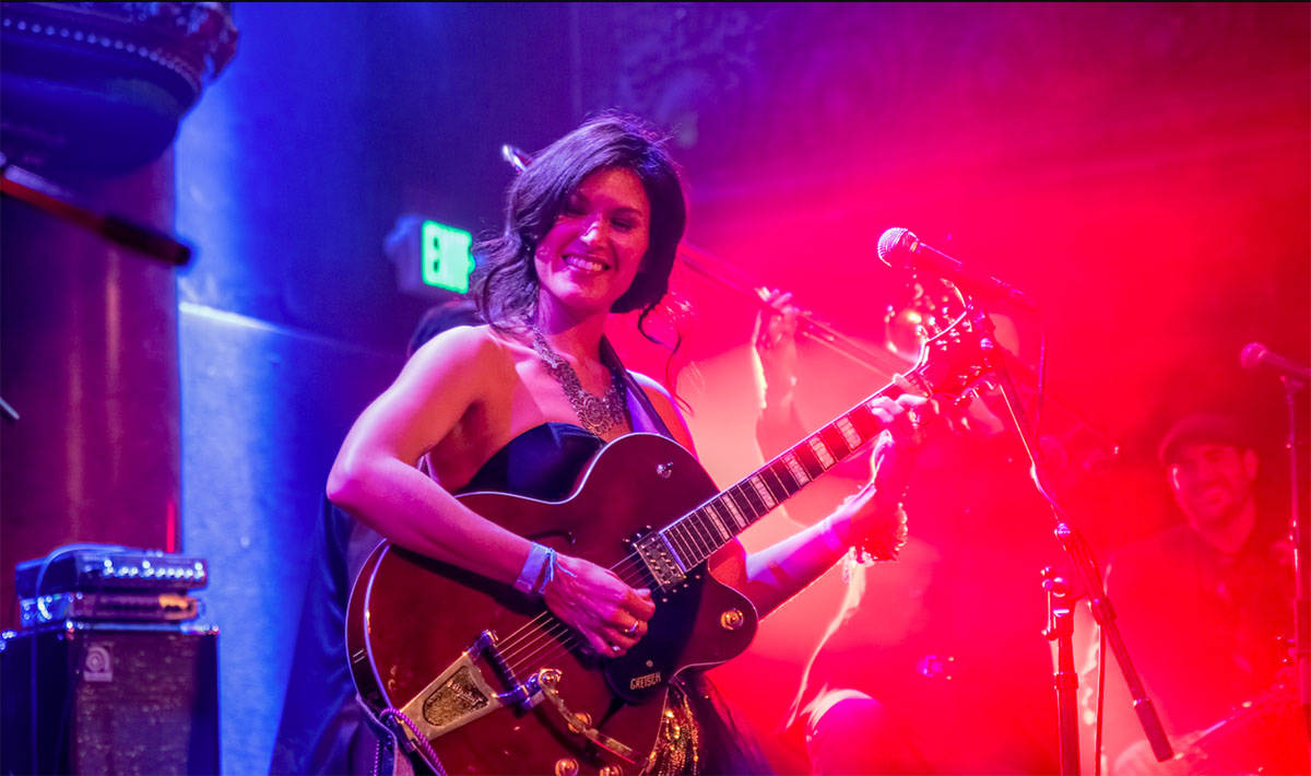 """Ellisa Sun shows off her """"fun jazz"""" sound at the Bez Arts Center. (Special to Patric Carver/Langley Advance Times)"""