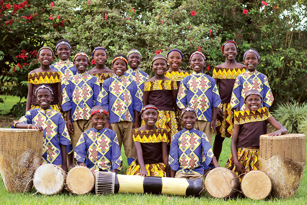 The African Children's Choir is coming to Langley on Sunday. (Sarah Wanyana photo)