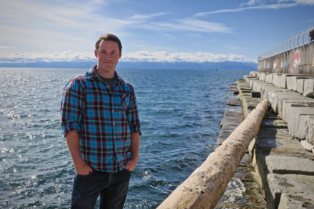 Kieran Cox is among a team of UVic researchers conducting a study that suggests humans are unknowingly consuming tens of thousands of plastic particles per year. (Credit: Kieran Cox)