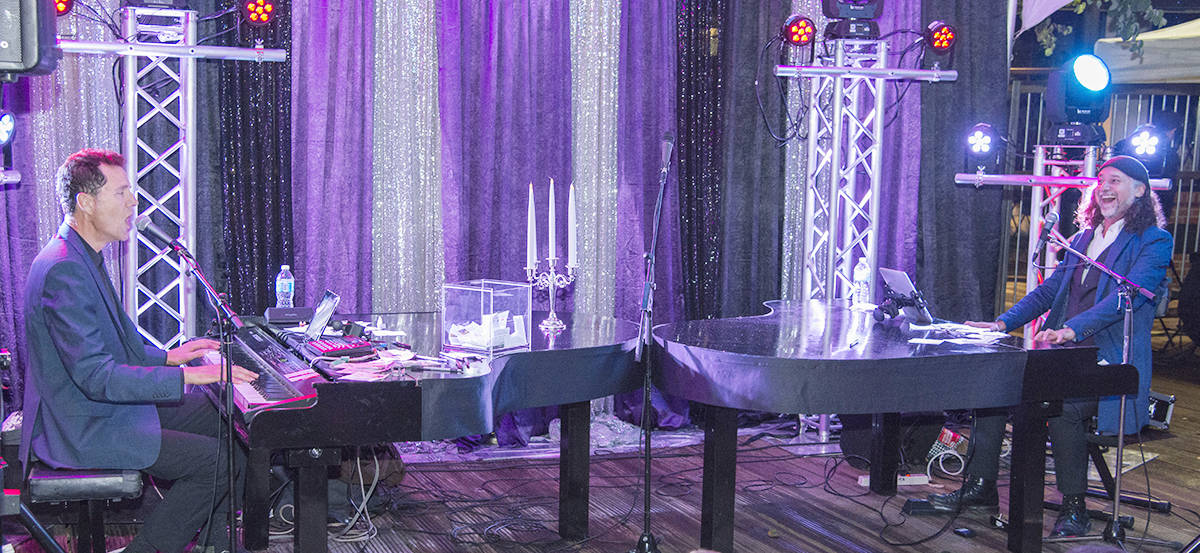 Dueling Pianos in the Plaza  returns for a memorable 19+ evening July 13 featuring entertaining opening acts and an all-request show that's sure to have you singing along to your favourite songs.