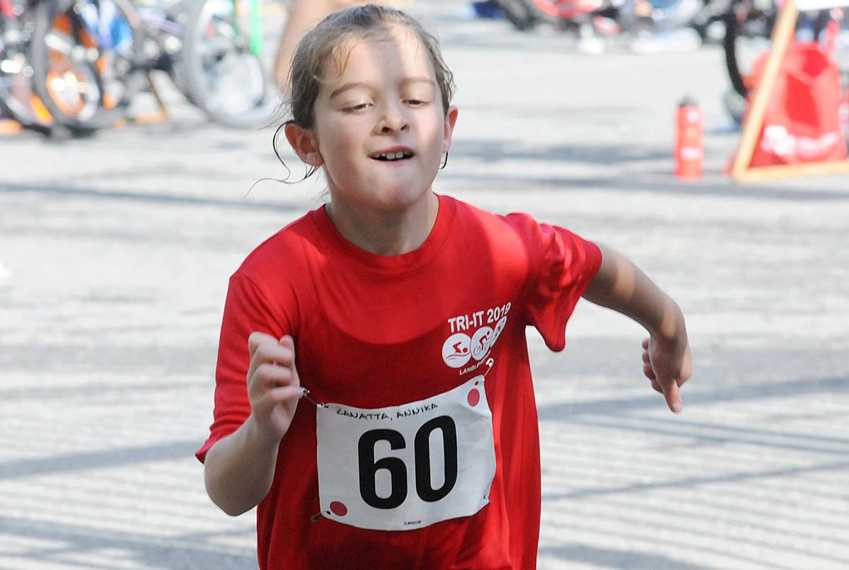 A determined Annika Zanatta began her run. Dan Ferguson Langley Advance Times