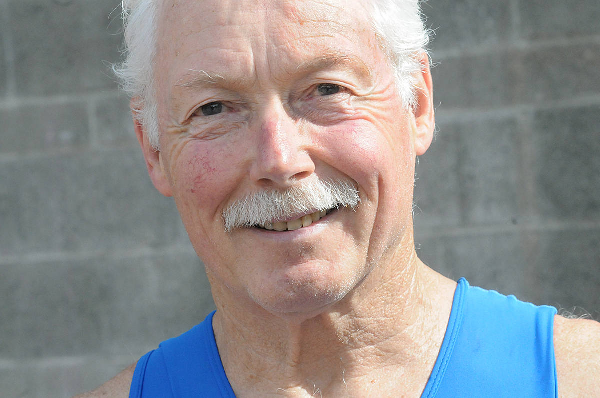 Brian Parkinson, 77, said as long as he was waiting for a pacemaker, he might as well take part in the annual Tri-It triathlon