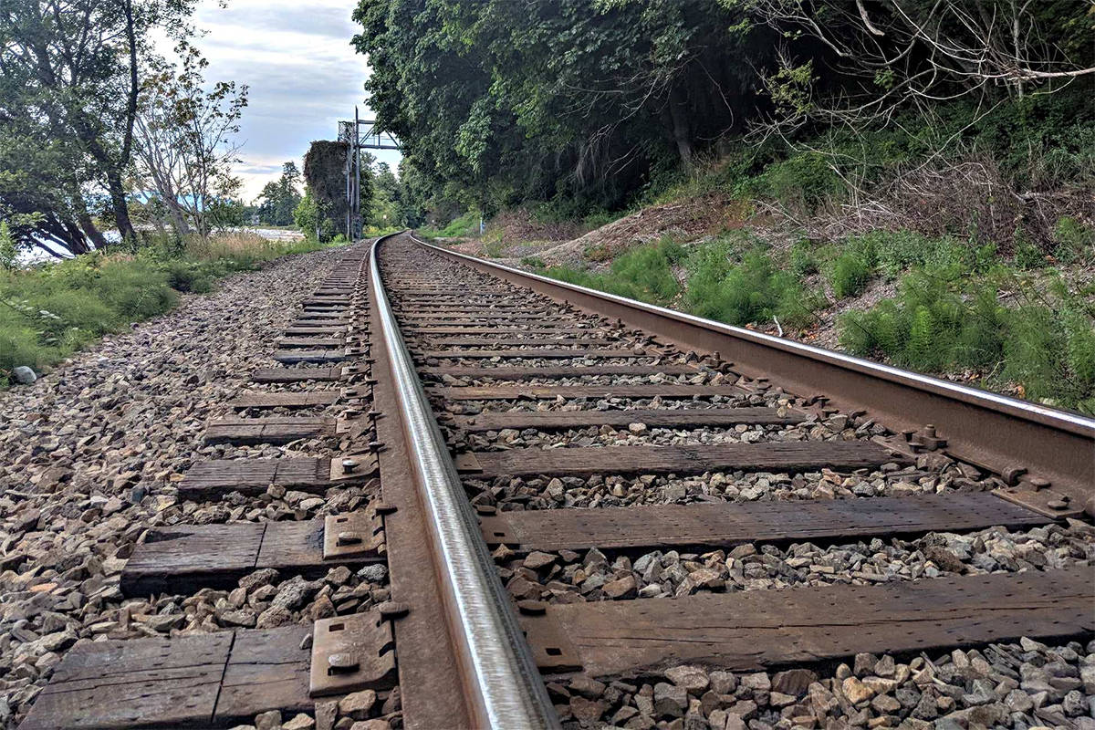 A local Hope resident is in hospital after being struck by a train on Saturday evening. (File photo)