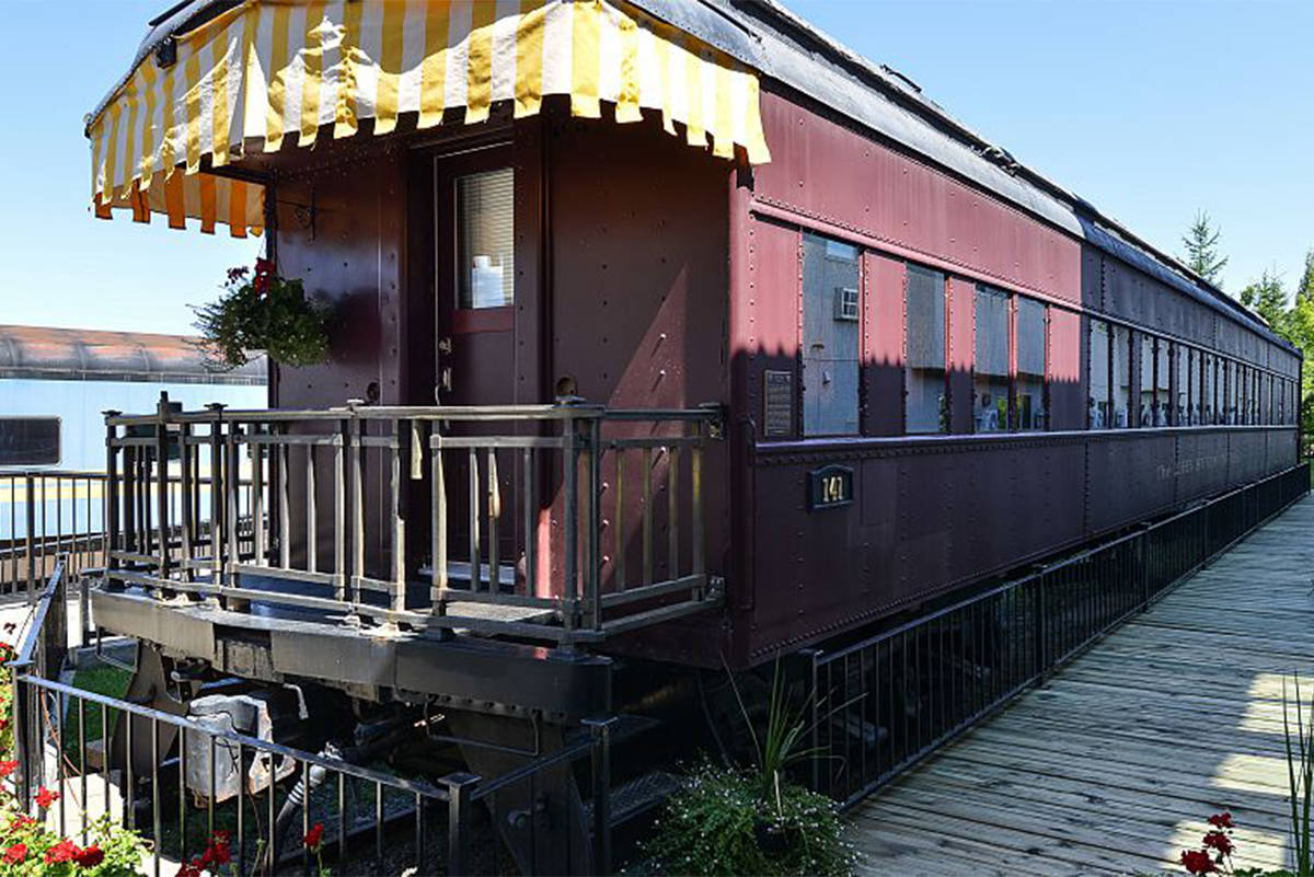 The Joe Huber Sr. rail car, formerly a 1921 CP Rail sleeper car, was rebuilt to become a guest room at a hotel in Cranbrook. (Submitted)